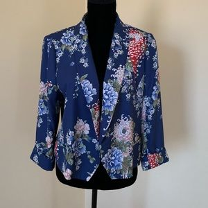 Zara Blue Floral Blazer NWT